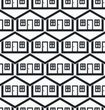 Real estate theme symmetric vector seamless pattern, abstract ho Stock Photography