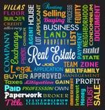 Real Estate Theme. Real Estate Word Theme Background Royalty Free Stock Image
