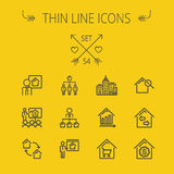 Real Estate thin line icon set Royalty Free Stock Photography