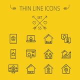 Real Estate thin line icon set Royalty Free Stock Images