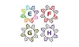 Real Estate tiennent le premier rôle la solution G E-F initial H Images stock