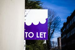 Real estate TO LET sign. TO LET sign Royalty Free Stock Photos