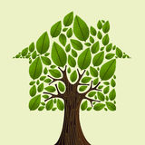 Real estate tree idea Royalty Free Stock Photography