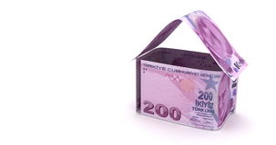 Real Estate with Turkish Lira stock footage