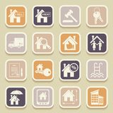 Real estate universal icons Royalty Free Stock Photos