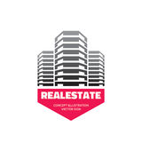 Real Estate - vector business logo template concept design. Royalty Free Stock Photo
