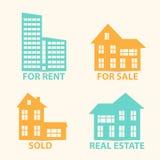 Real Estate vector die eingestellten Ikonen Stockbilder