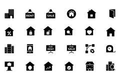 Real Estate Vector el icono 4 Imagen de archivo