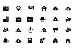 Real Estate Vector el icono 4 Imagen de archivo libre de regalías