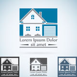 Real Estate vector el sistema de color de la plantilla del diseño del logotipo Icono abstracto del concepto de la casa Símbolo de Fotos de archivo libres de regalías