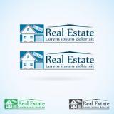 Real Estate vector el sistema de color de la plantilla del diseño del logotipo Icono abstracto del concepto de la casa Símbolo de Foto de archivo