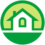 Real estate vector emblem Stock Image