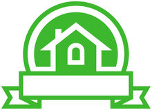 Real estate vector emblem Royalty Free Stock Image