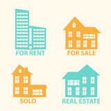 Real Estate vector  icons set Stock Images