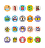 Real Estate Vector Icons 6 Stock Images