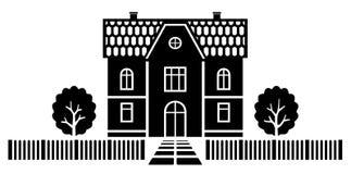 Real estate vector illustration. Vector illustration on white background royalty free illustration