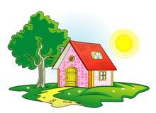 Real estate vector illustration. Vector Small Country House illustration vector illustration