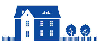 Real estate vector illustration. Vector illustration on white background Stock Photos