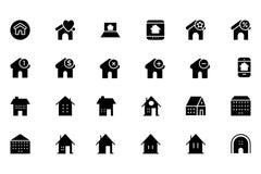 Real Estate Vector l'icona 5 Immagini Stock Libere da Diritti