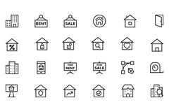 Real Estate Vector l'icona 2 Fotografia Stock Libera da Diritti