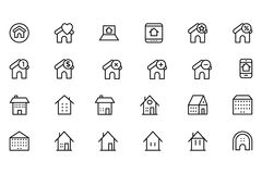Real Estate Vector l'icona 5 Immagine Stock Libera da Diritti