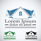 Real Estate vector l'insieme di colore del modello di progettazione di logo icona astratta di concetto del tetto Simbolo di archi