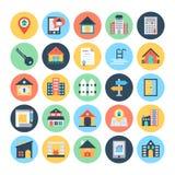 Real Estate Vector le icone 2 Immagini Stock Libere da Diritti
