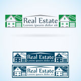 Real Estate vector logo design template color set. House abstract concept icon. Realty construction architecture symbol Royalty Free Stock Images