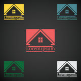 Real Estate vector logo design template color set. rooftop abstract concept icon. Realty construction architecture symbol Stock Photography