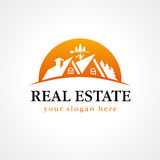 Real-estate vector logo. Royalty Free Stock Photo