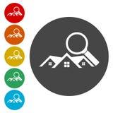 Real Estate vector logo, House search abstract concept icons set. Vector icon vector illustration