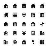 Real Estate Vector os ícones 1 Imagens de Stock Royalty Free