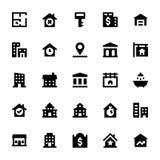 Real Estate Vector os ícones 3 Imagens de Stock