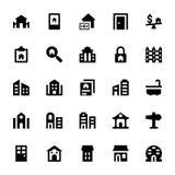 Real Estate Vector os ícones 4 Fotos de Stock