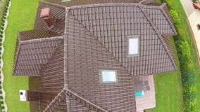 Real estate view from drone , house in Poland stock video