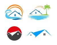Real Estate własność i budowa loga projekt dla biznesowego korporacyjnego znaka Zdjęcia Royalty Free