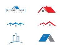 Real Estate, własności i budowy loga projekt, ilustracji