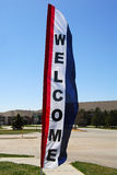 Real Estate Welcome Flag Stock Photo