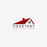 Real Estate, Wohnung, Eigentums-Geschäft flacher Logo Design Stockfotografie