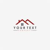 Real Estate, Wohnung, Eigentums-Geschäft flacher Logo Design Stockfoto