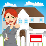 Real Estate Woman Stock Photos