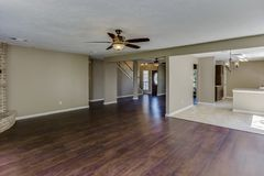 Real Estate-Woonkamer stock foto