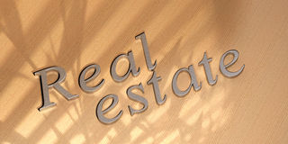 Real estate word Stock Image