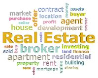 Real estate word cloud Stock Photography