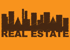 Real Estate word combination Royalty Free Stock Image