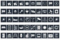 50 Real Estate y iconos caseros Fotos de archivo