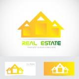 Real estate yellow house logo Stock Photos