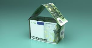 Real Estate z euro royalty ilustracja