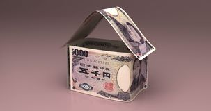 Real Estate z Japońskim jenem ilustracji