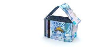 Real Estate z kazach Tenge ilustracji